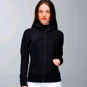 Size 4 Lululemon Scuba Hoodie Black Sweatshirt Top